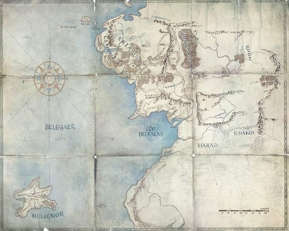 mapa Śródziemia
