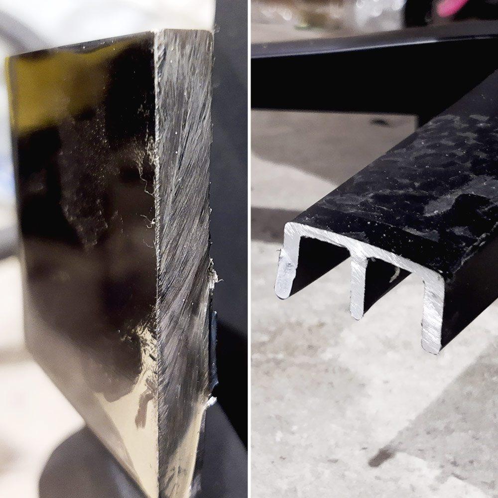 przekrój elementów metalowych w yumisu 2050X