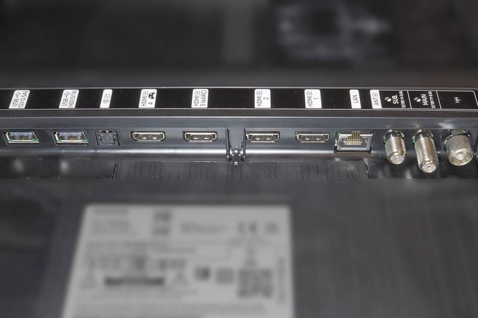 złącza telewizora samsung qe55q80a