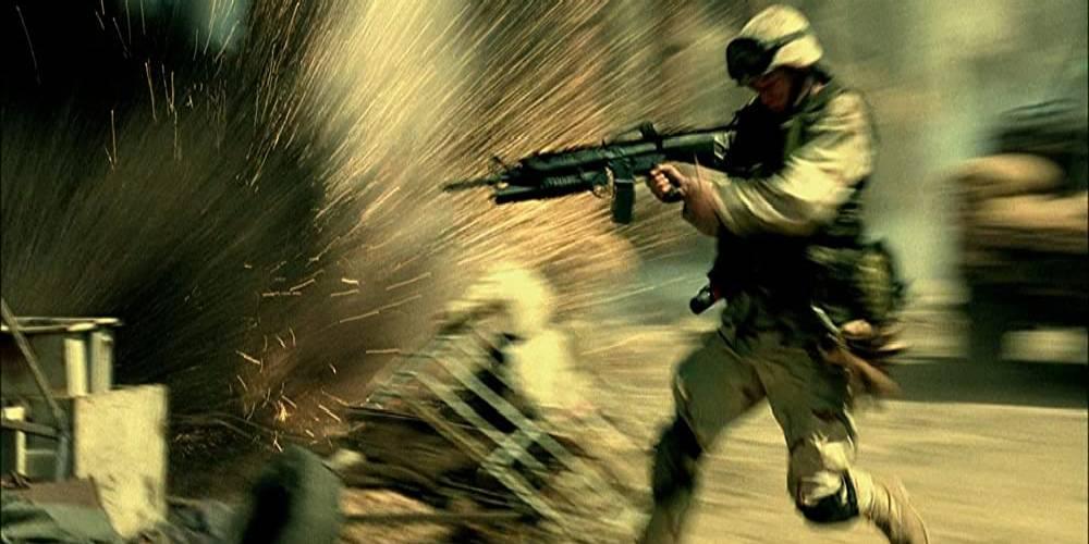 żołnierz i wybuch