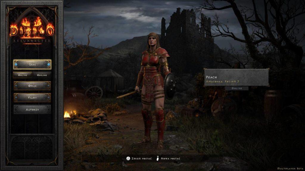 Diablo 2 Resurrected klasa amazonka