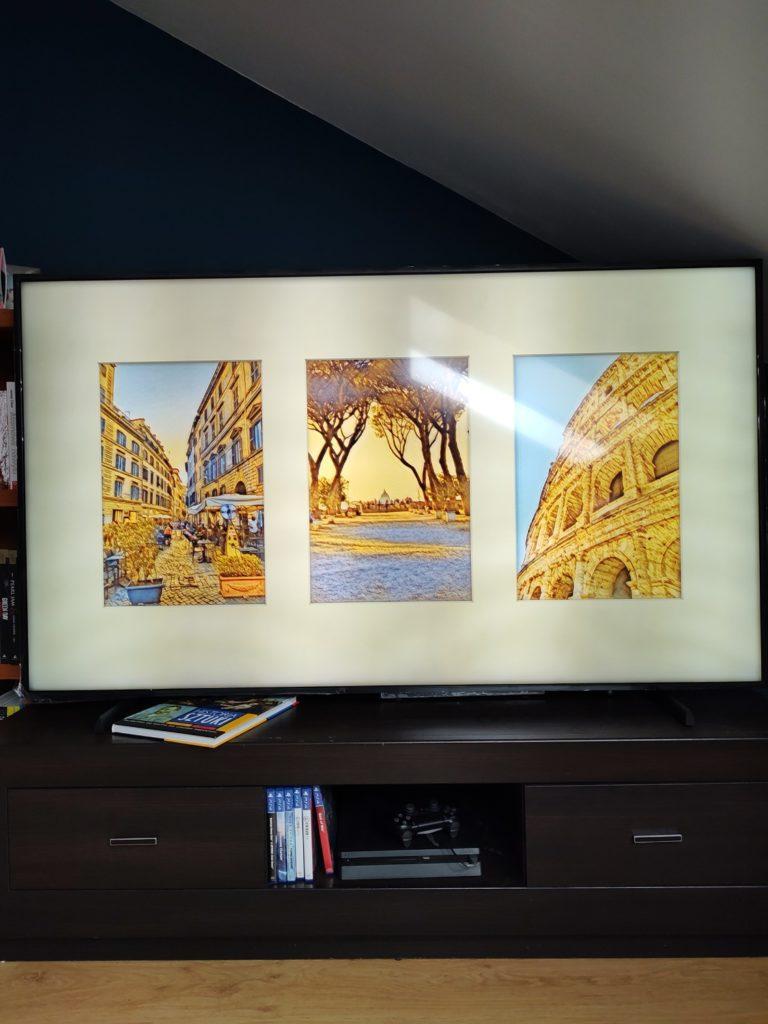 Samsung The Frame filtry i kolaż