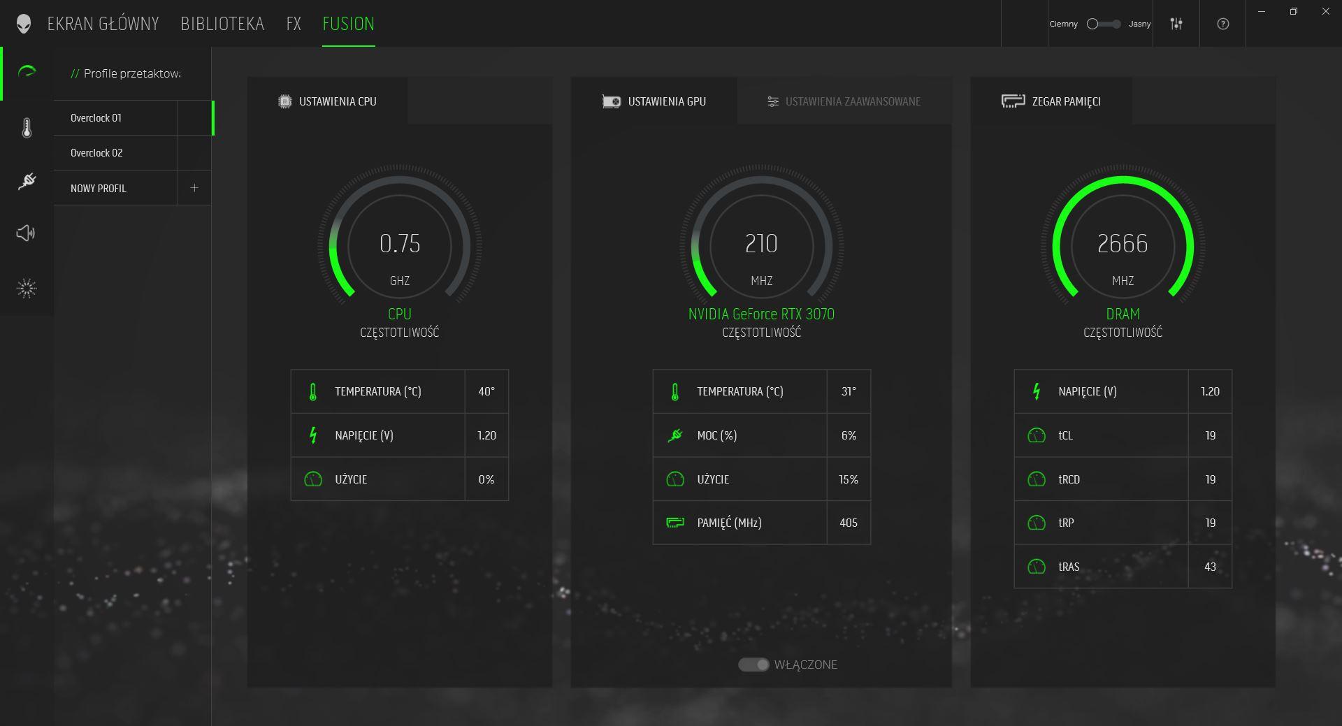 Alienware Command Center podkręcenie