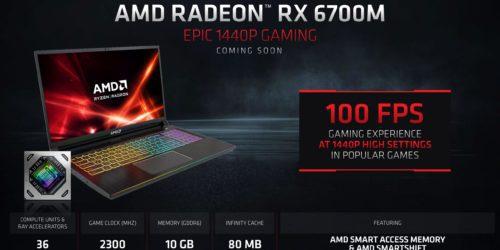 AMD Radeon RX 6700M przetestowany. Jak wypada wydajność w grach na tle RTX 3070?