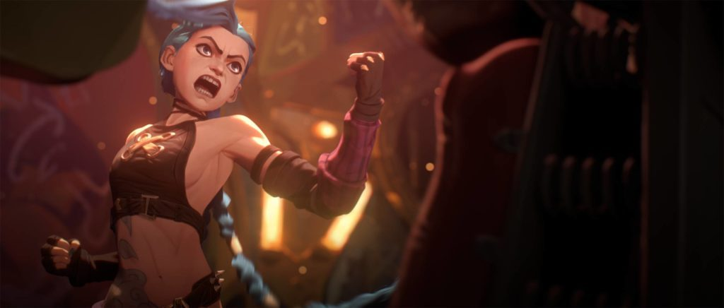 wściekła jinx w serialu arcane na netflix z uniwersum league of legends