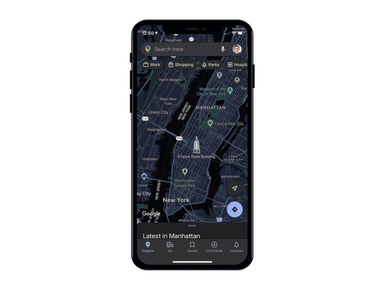 Użytkownicy iOS wkrótce otrzymają tryb ciemny w Mapach Google
