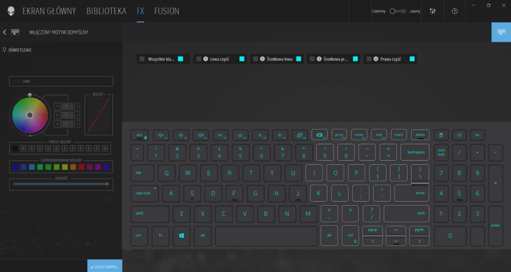 Dell G15 personalizacja klawiatury