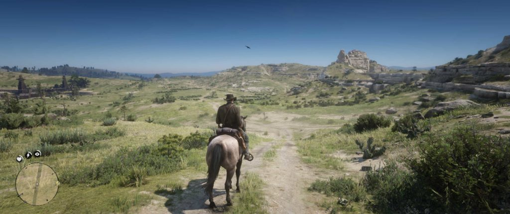 red dead redemption 2 na ultrapanoramicznym monitorze huawei mateview gt