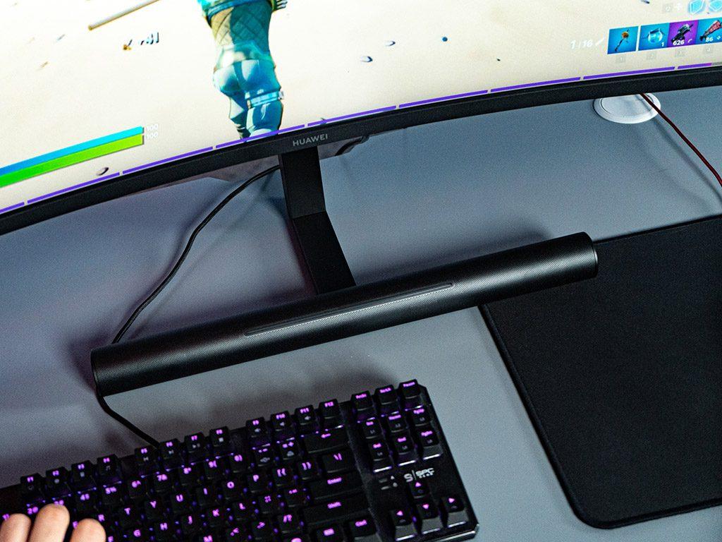 wbudowany soundbar w podstawce monitora huawei mateview gt
