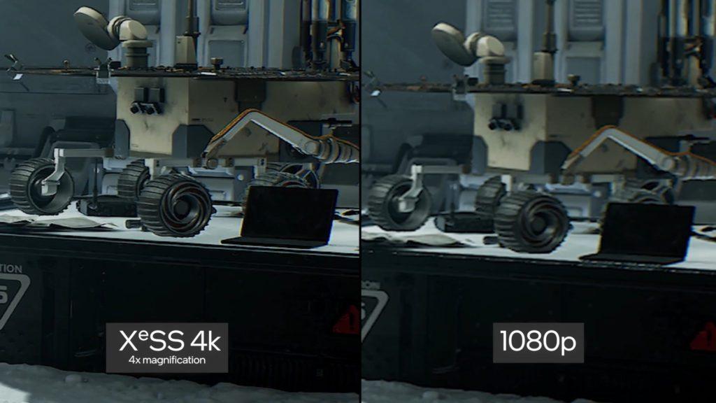intel xess porównanie jakości obrazu