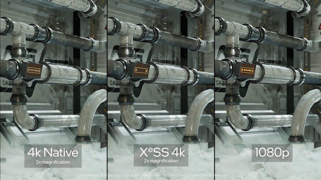porównanie jakości obrazu między 4k i 4k xess
