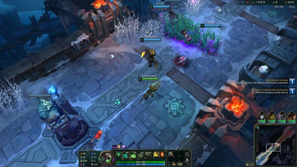zrzut ekranu z rozgrywki league of legends na pc w trybie aram