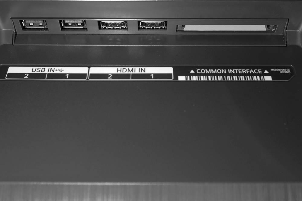 tylna ściana i złącza telewizora lg oled55b1