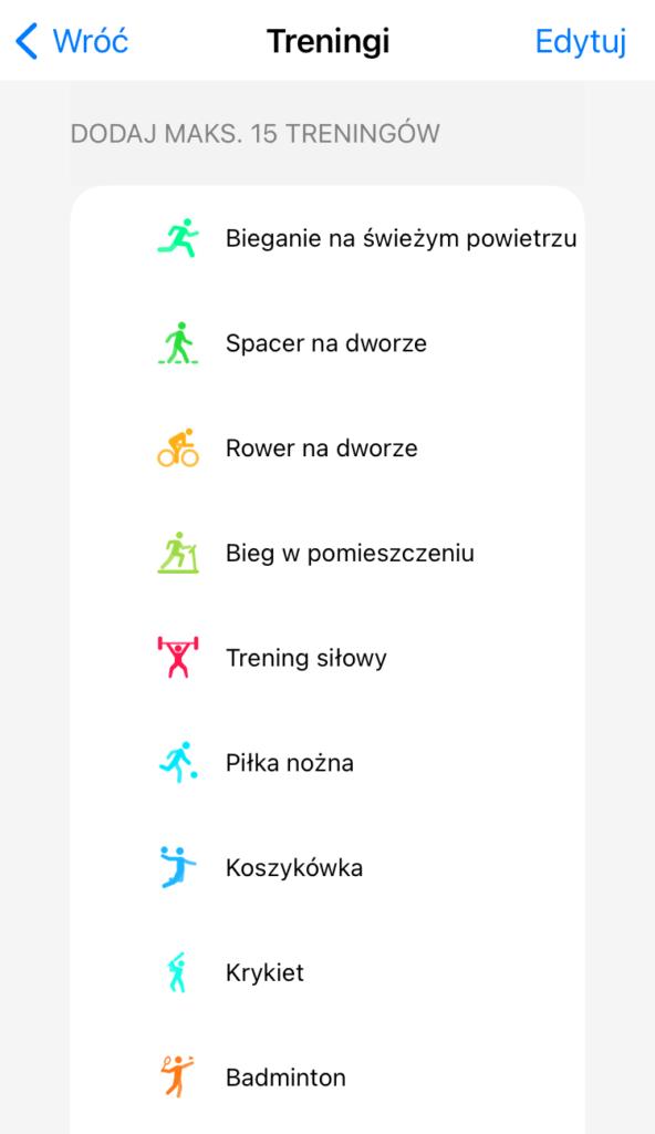 realme Watch 2 Pro wybór aktywności