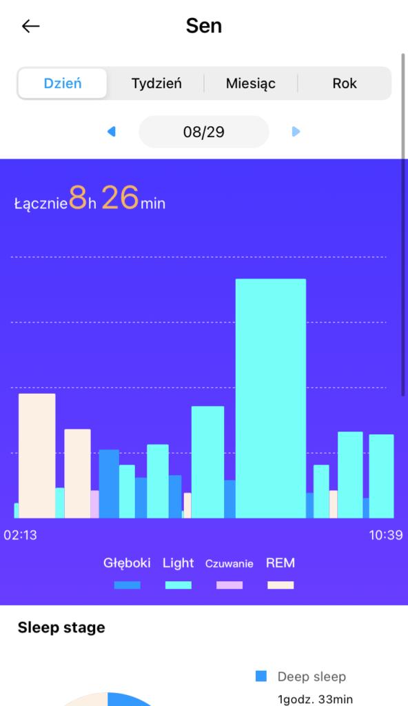 realme Watch 2 Pro sen w aplikacji