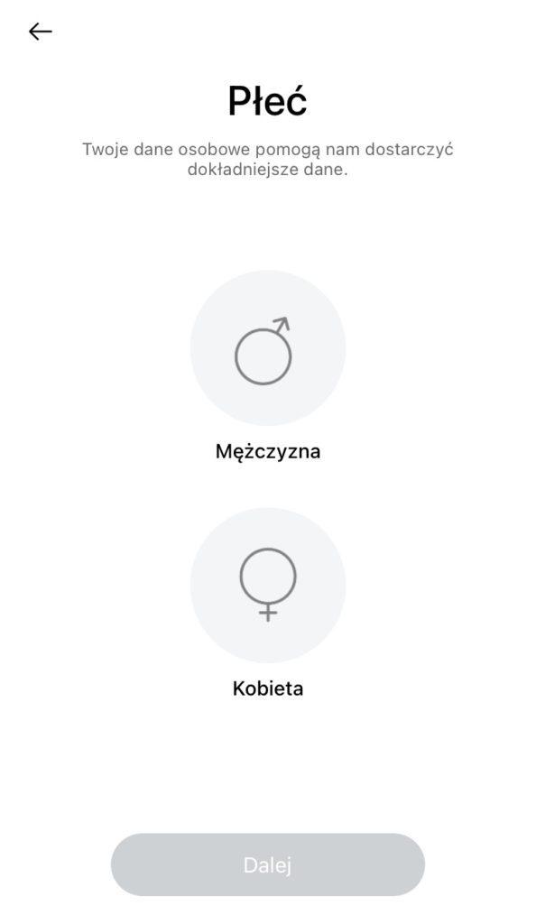 realme Watch 2 Pro wybór płci