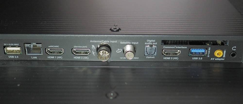 złącza telewizora tcl 65p815