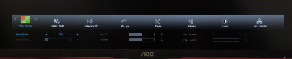 Wzmocnienie obrazu w AOC U28G2UX