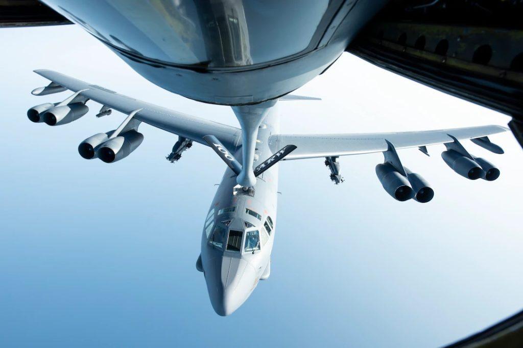 B-52H tankowanie