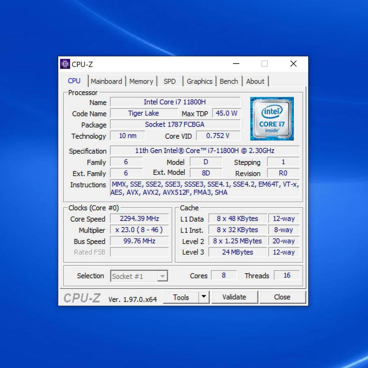 Dell 16 Plus CPU-Z
