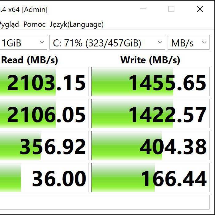 CrystalDisk Dell 16 Plus