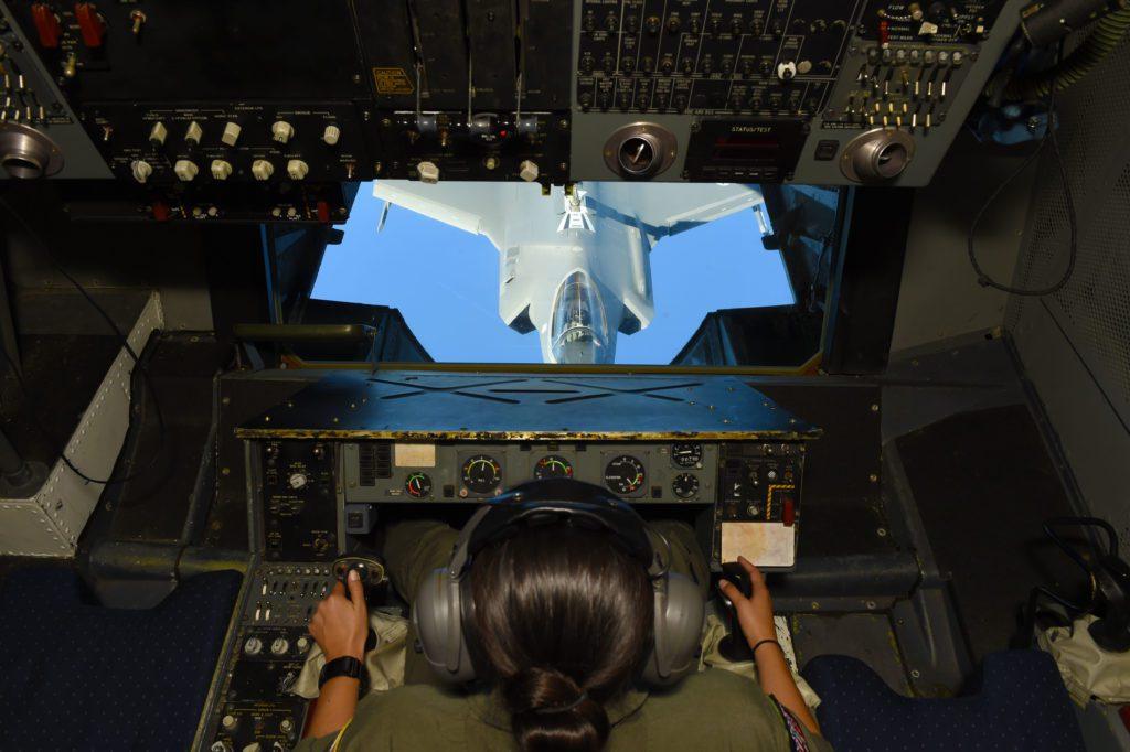 F-35A tankowanie