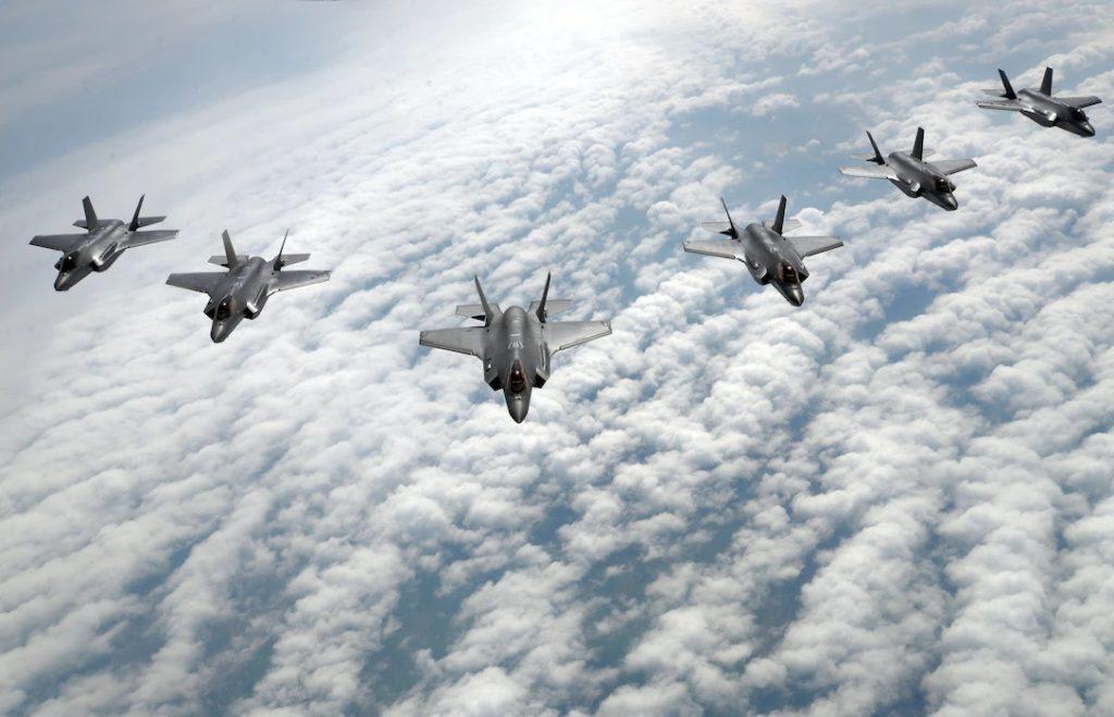 F-35A formacja
