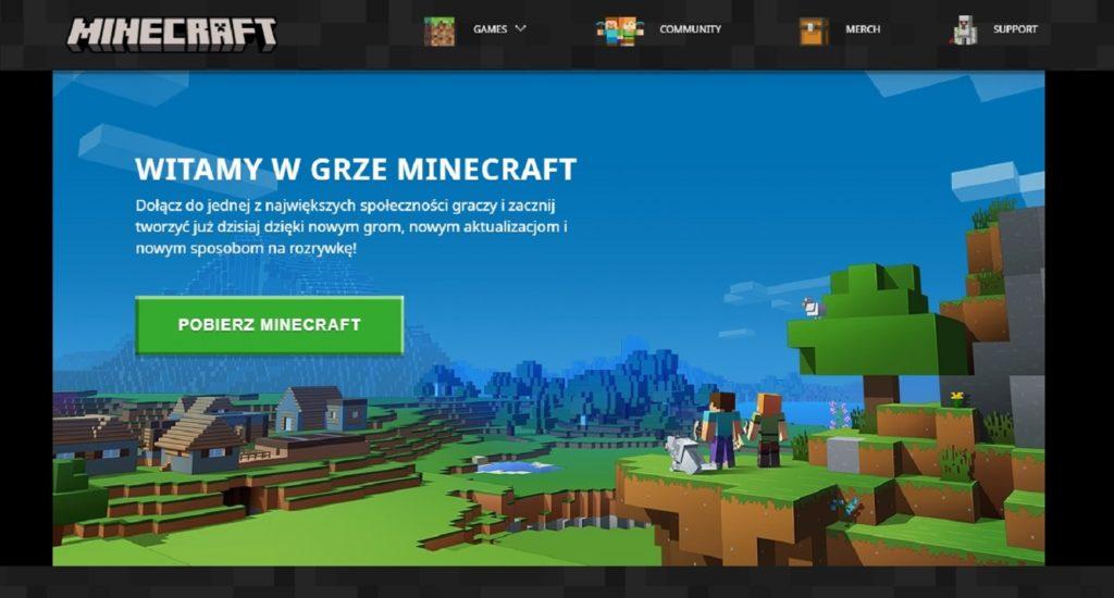 Minecraft strona zakupu