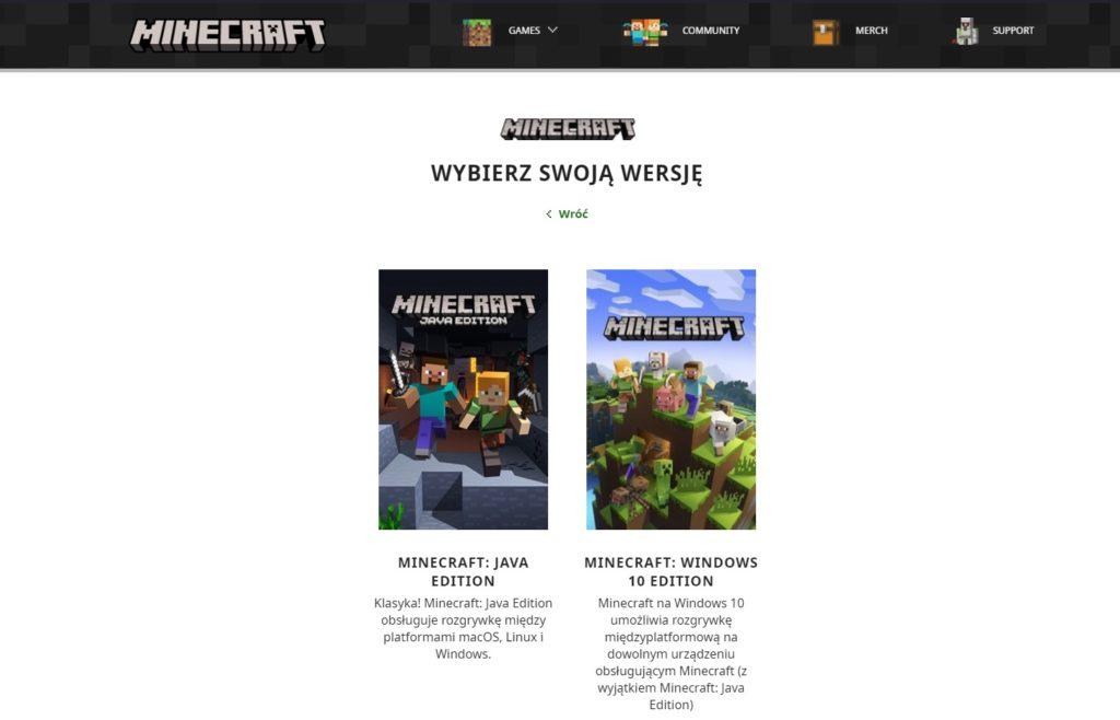 Minecraft wersja gry