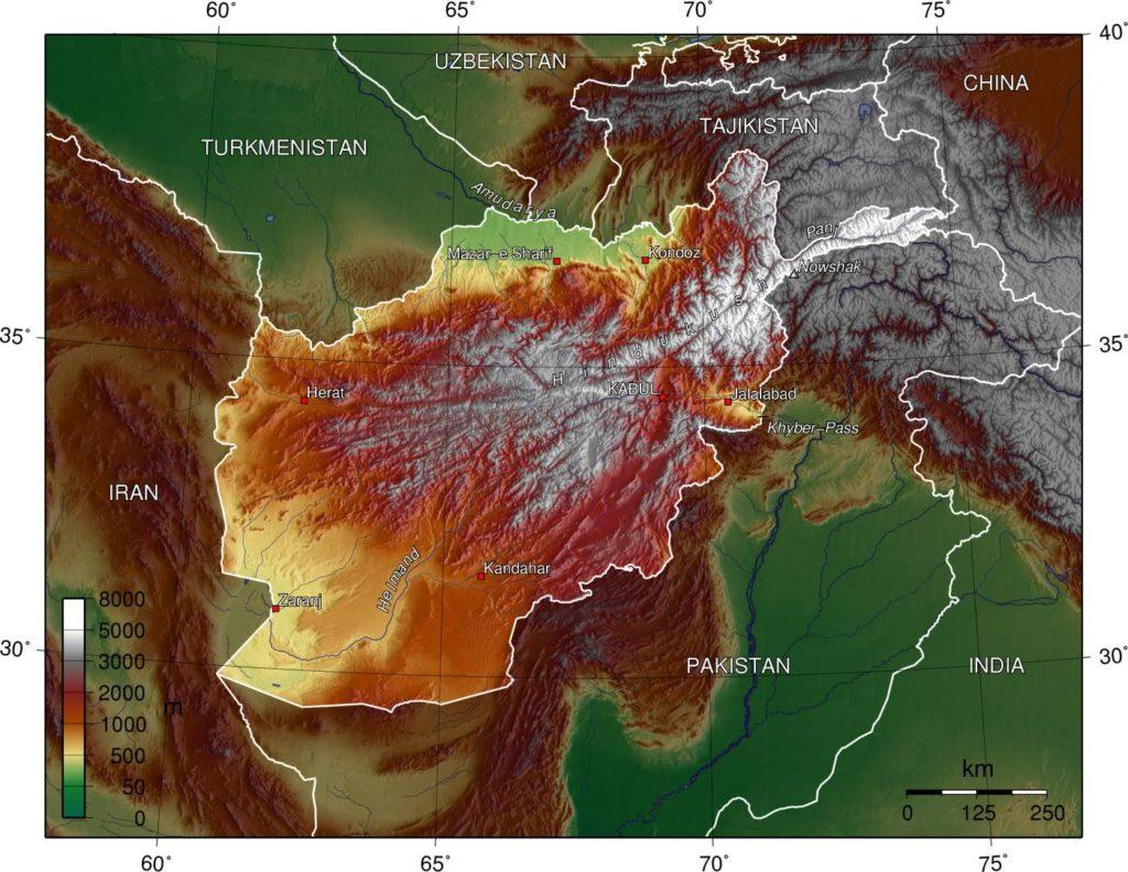 Afganistan trudny teren