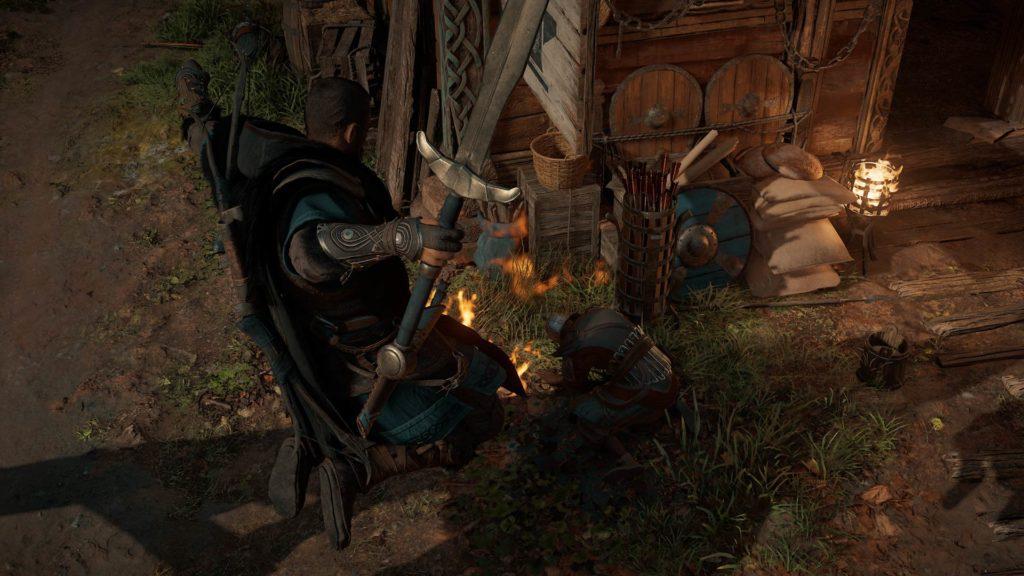 zrzut ekranu z assassin's creed valhalla na xbox series x zabójstwo eivora