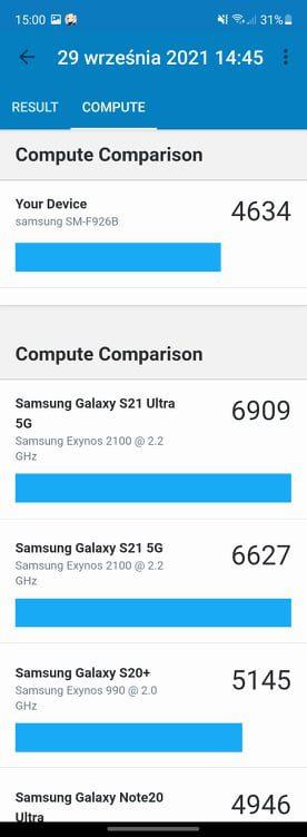 Galaxy Z Fold 3 compute geekbench