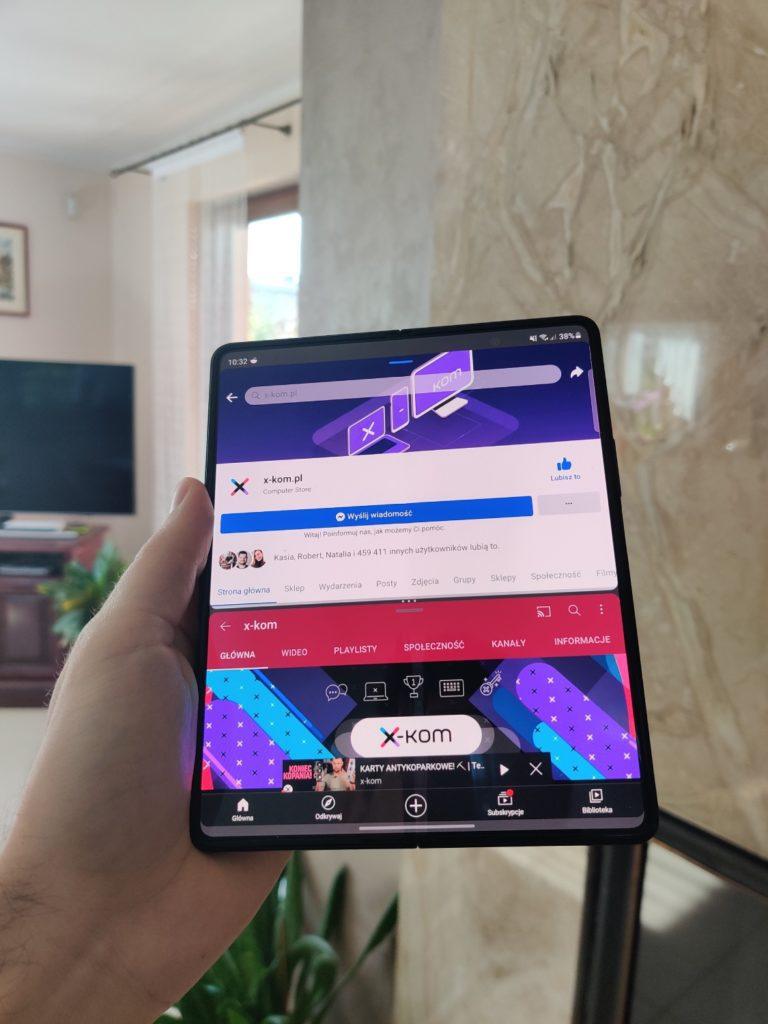 Galaxy Z Fold 3 podział ekranu