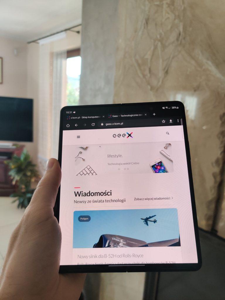 Galaxy Z Fold 3 przeglądarka