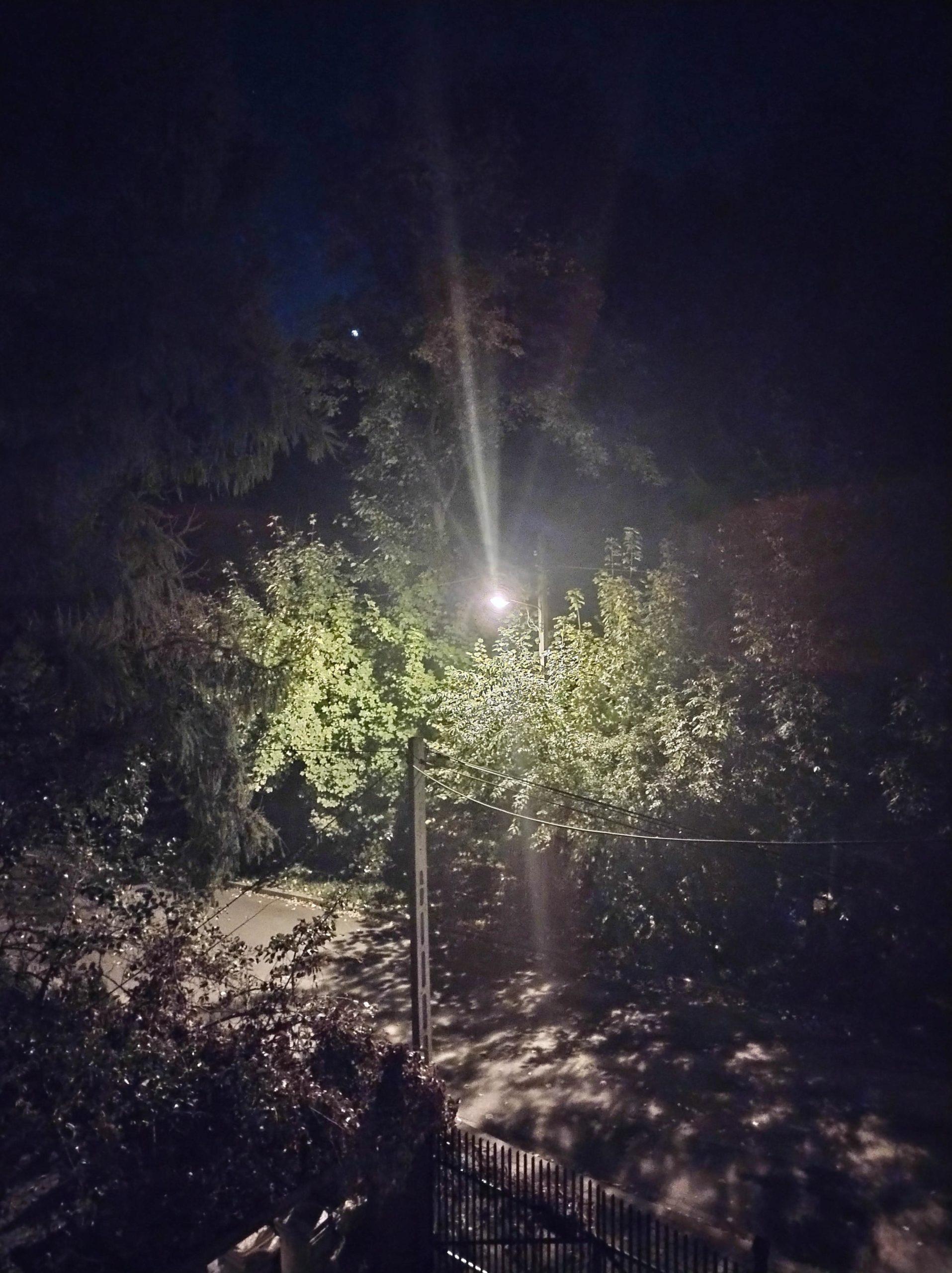 Nocne z włączonym trybem