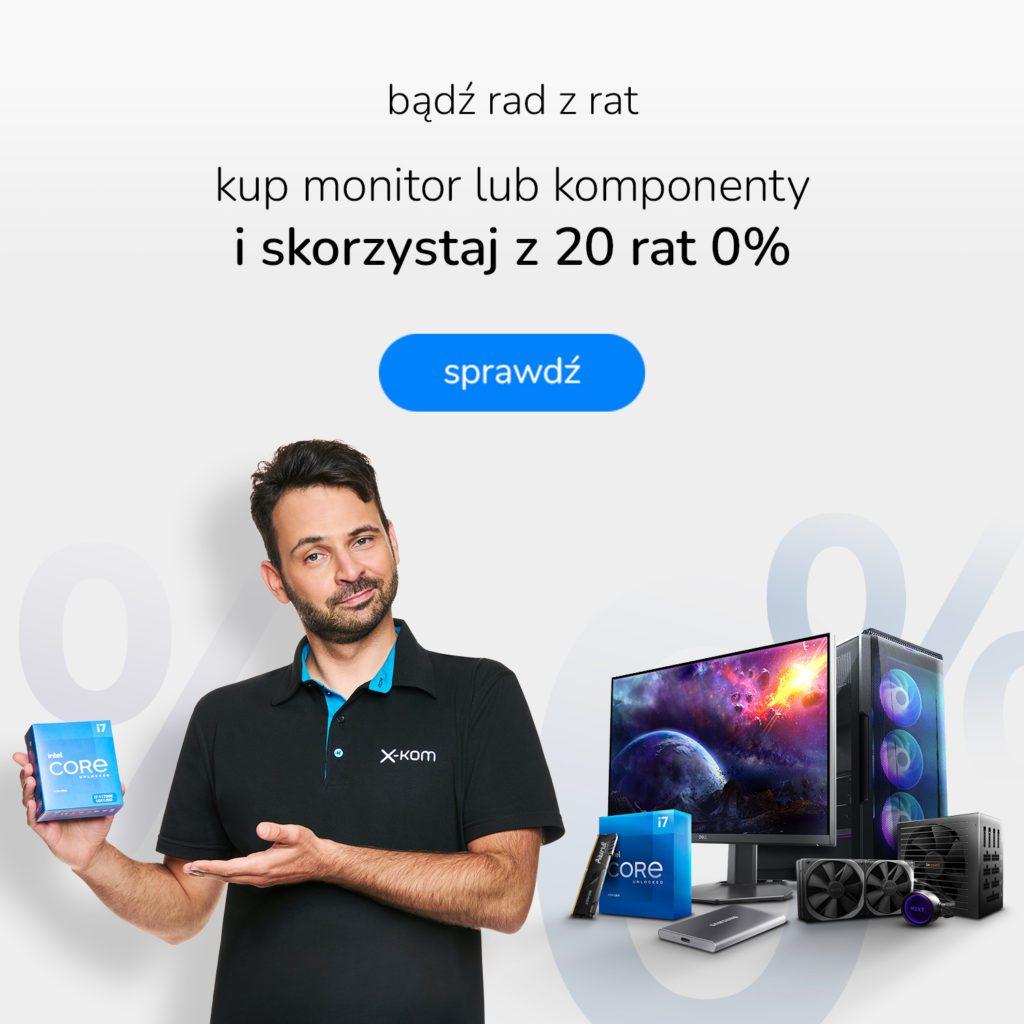 Promocja na monitory i komponenty z ratami 0%