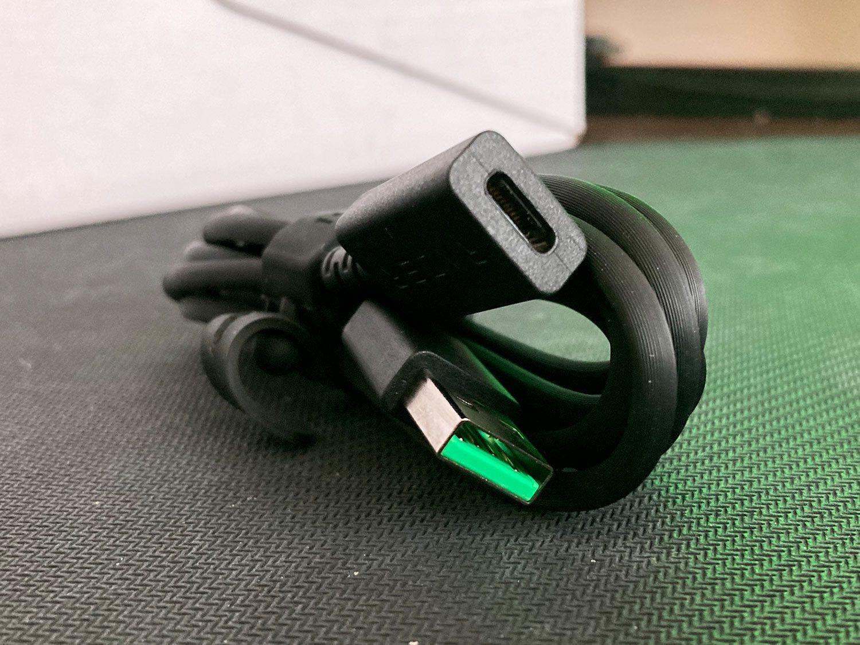 kabel adapter usb-c i usb-a słuchawek razer barracuda x