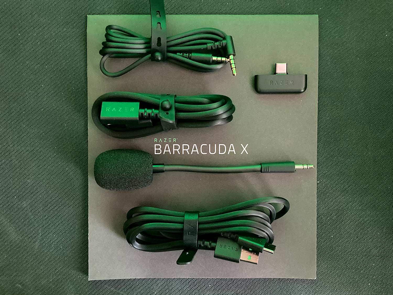 unboxing słuchawek razer barracuda x i kable oraz mikrofon