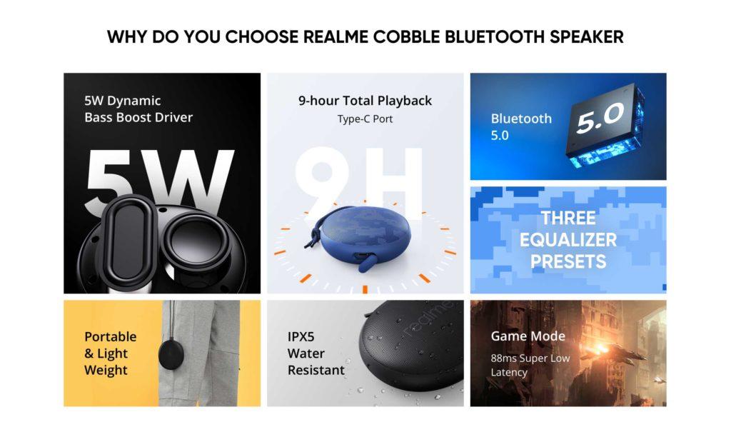 realme cobble Bluetooth Speaker głośnik