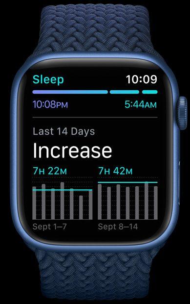 apple watch 7 sleep