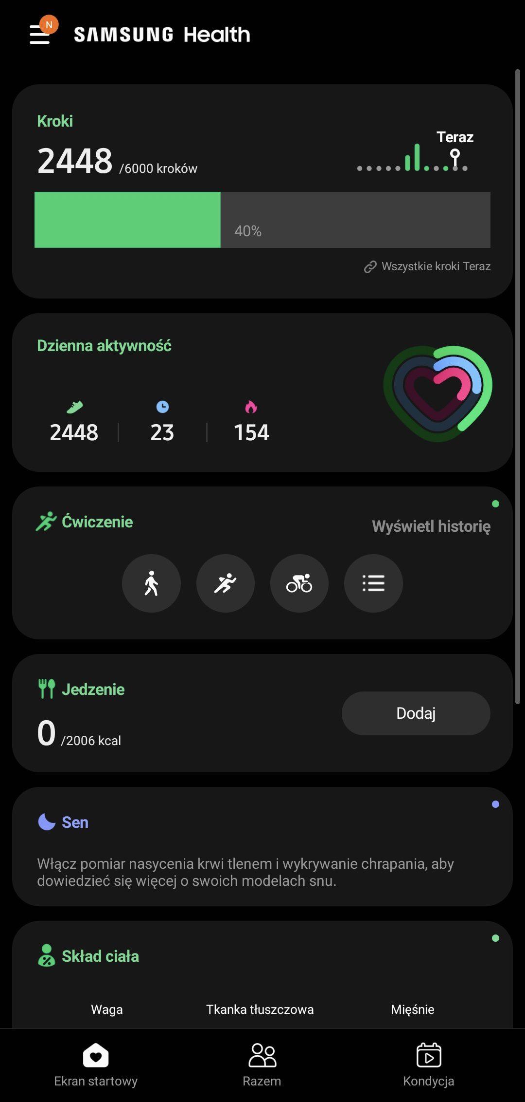 smartwatch galaxy watch-4-samsung health aktywność