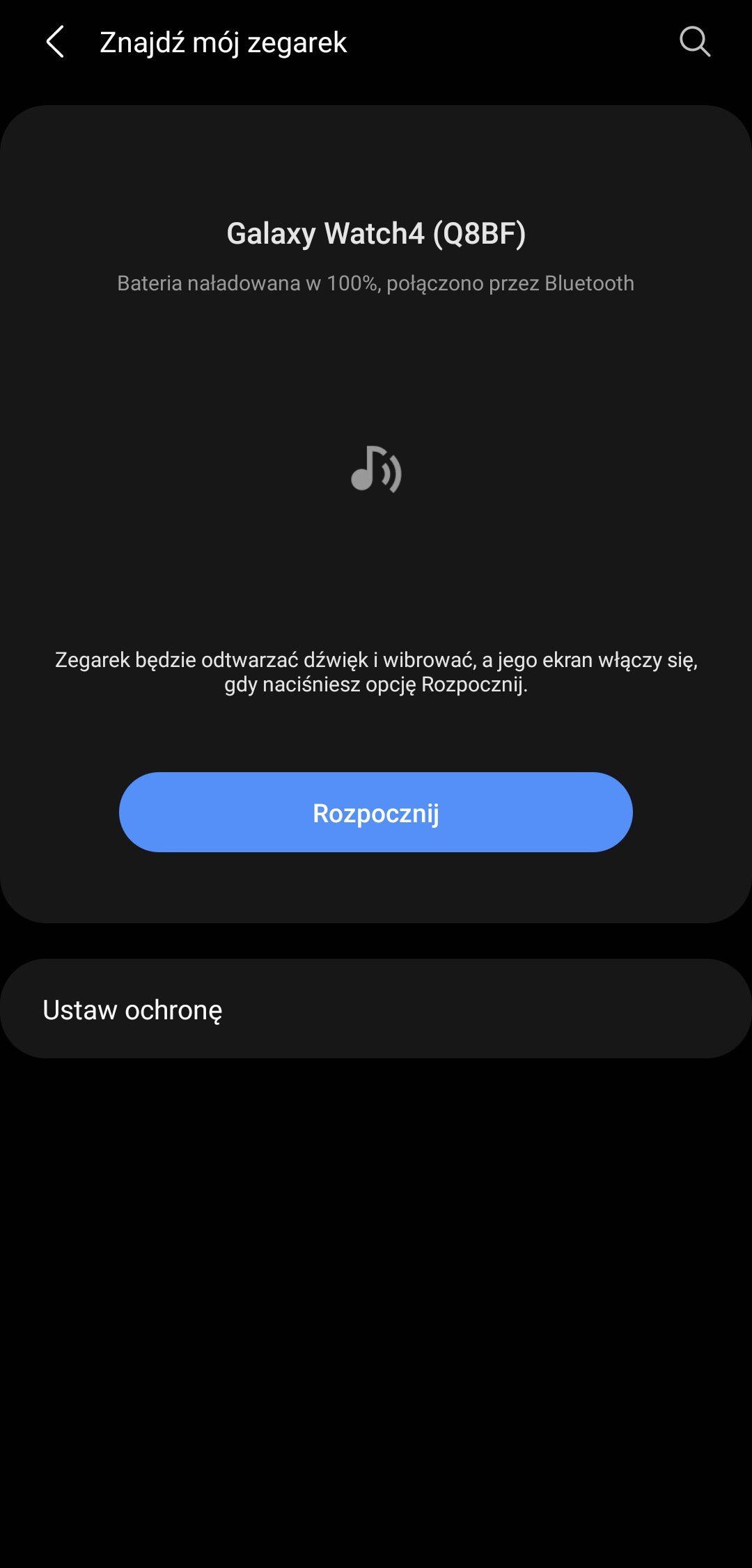 Galaxy Watch 4 aplikacja podstawowa