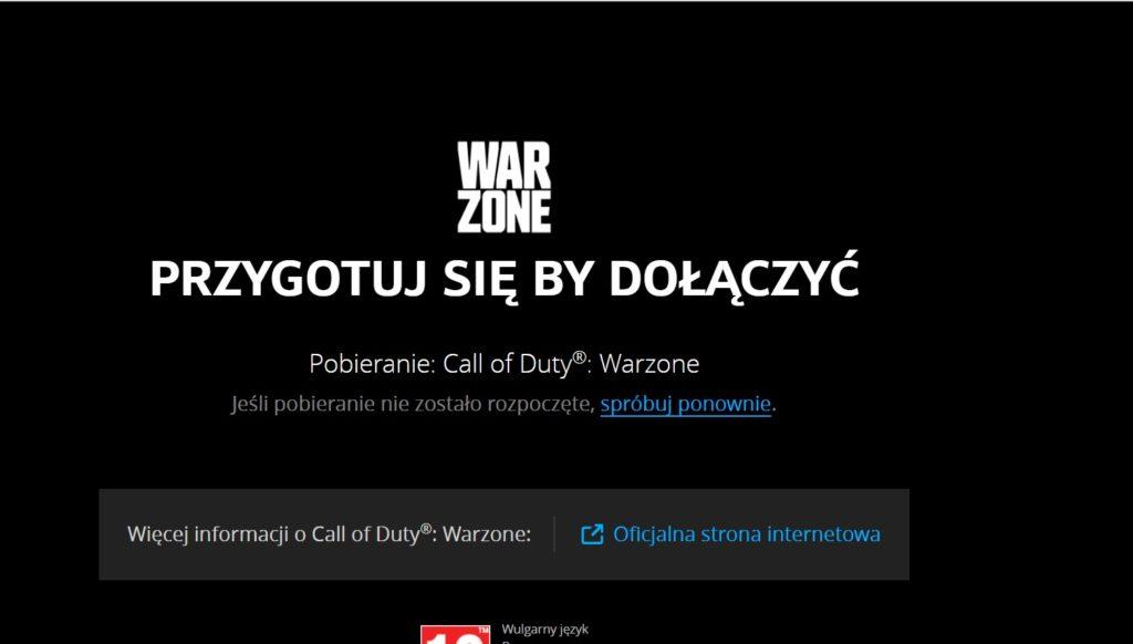 CoD Warzone pobieranie