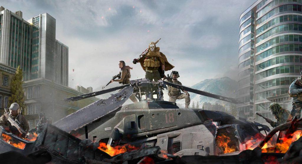 Warzone zniszczony helikopter