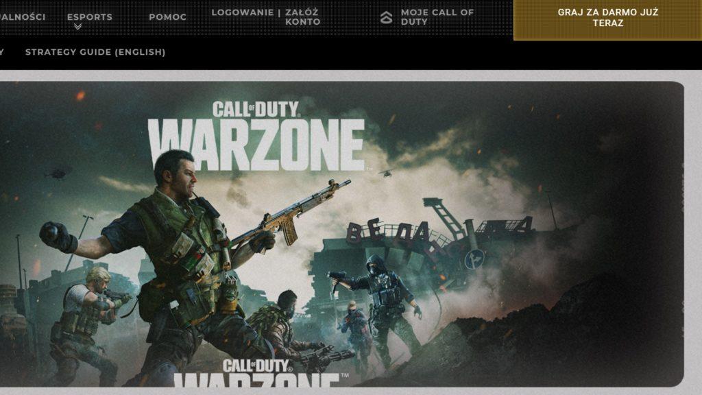 CoD Warzone strona gry