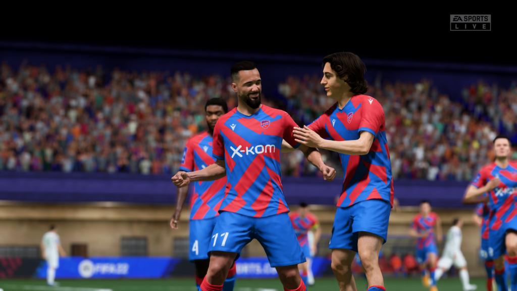 FIFA 22 XSX bramka celebracja
