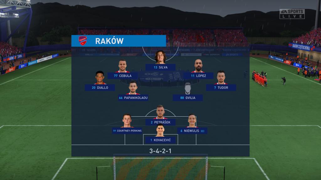 FIFA 22 XSX Raków skład