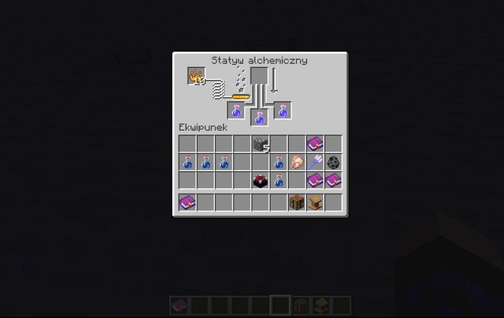 Wytwarzanie mikstur minecraft