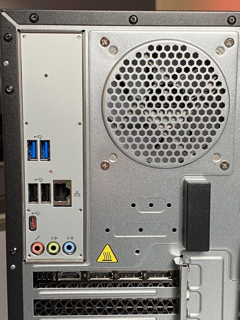 Acer Nitro 50 złącza z tyłu