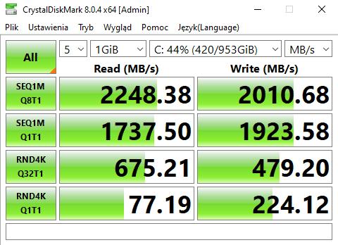 Acer Nitro 50 (2021) crystaldiskmark